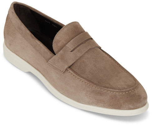 To Boot New York Edgar Light Gray Suede Penny Loafer