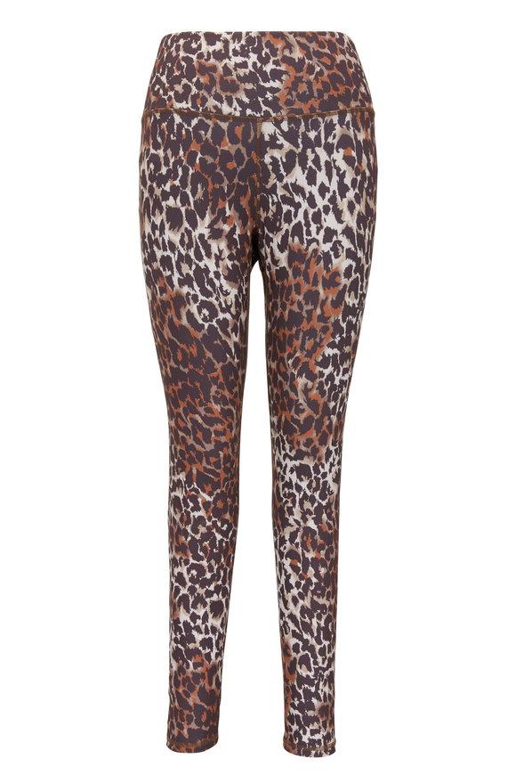 Veronica Beard Vilena Brown Multi Leopard Crop Legging