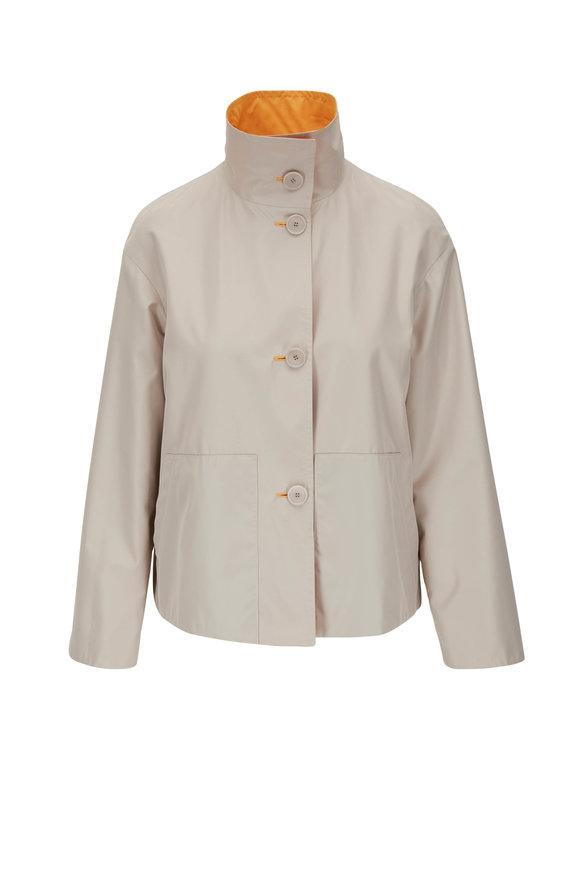 Akris Punto Sand & Orange Reversible Stand Collar Jacket