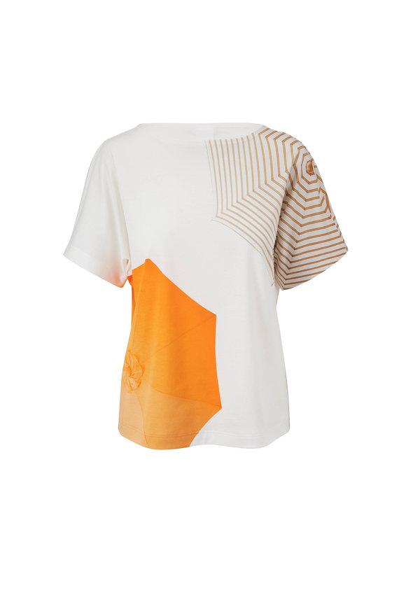 Akris Punto Sunshine Pop & Cream Printed T-Shirt