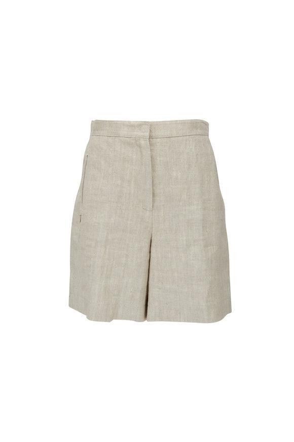 Akris Punto Sand Washed Linen Shorts