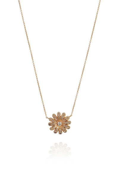 Nam Cho - Diamond Gold Daisy Pendant