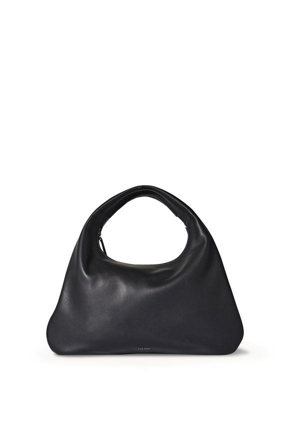 The Row Everyday Black Grained Leather Small Shoulder Bag