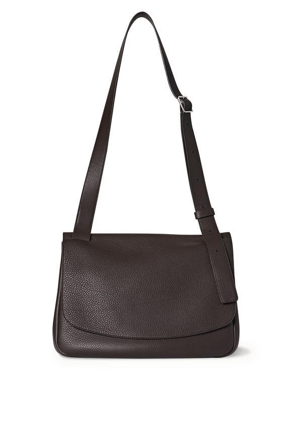 The Row Small Mail Bag Mocha Leather Shoulder Bag