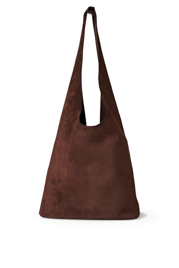 The Row Bindle Three Mocha Suede Hobo Bag