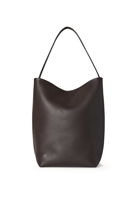The Row N/S Park Mocha Lux Grain Leather Tote