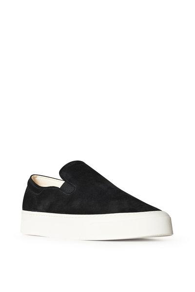 The Row - Marie Black Suede Slip On Sneaker
