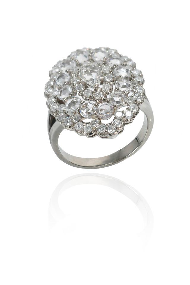 Platinum Flower Ring