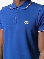 Moncler - Royal Blue Piqué Stripe Trim Polo