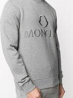 Moncler - Gray Logo Embossed Sweatshirt
