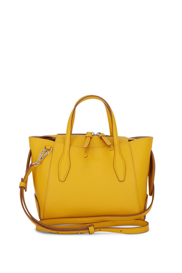 Tod's Yellow Leather Micro Shopping Bag