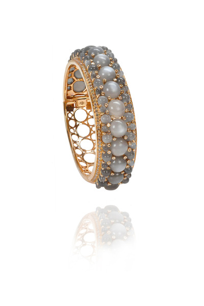 Nam Cho - Grey Moonstone Rose Gold Cuff