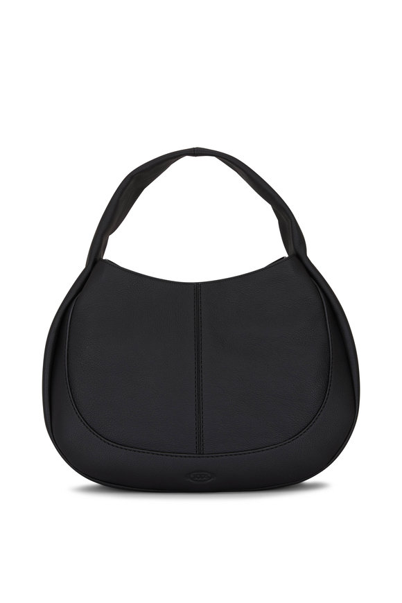 Tod's Black Leather Large Shirt Hobo Bag