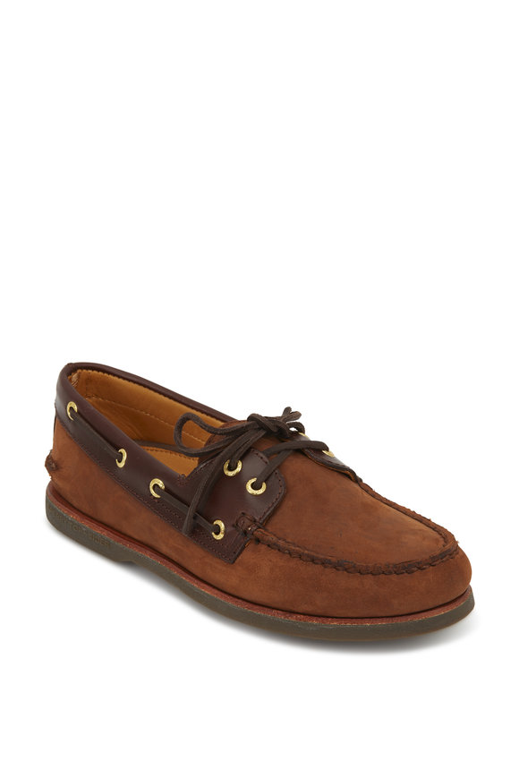 Sperry Dark Brown Leather Boat Shoe