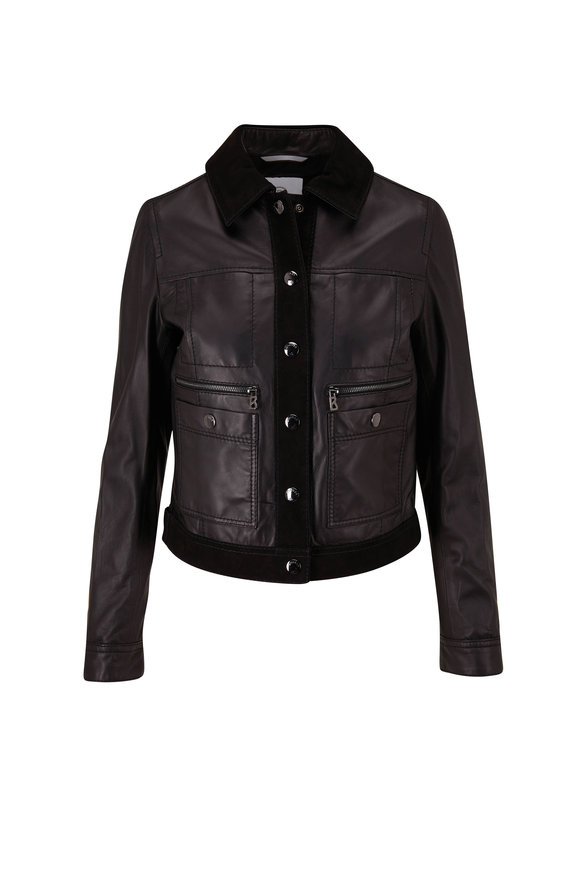 Bogner Lucy Black Leather Jacket