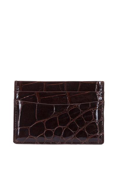 Trafalgar - Dark Brown Alligator Card Case