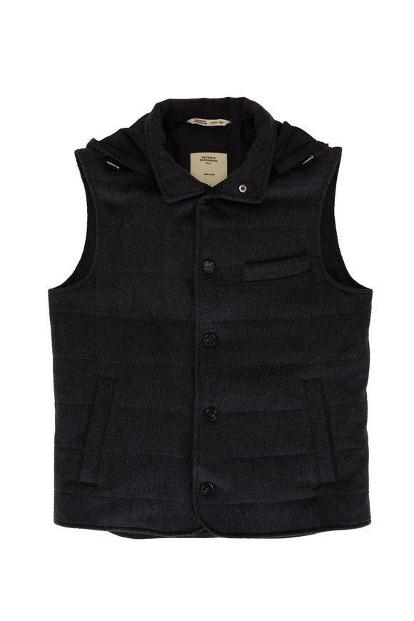 Maurizio Baldassari Charcoal Gray Cashmere Vest