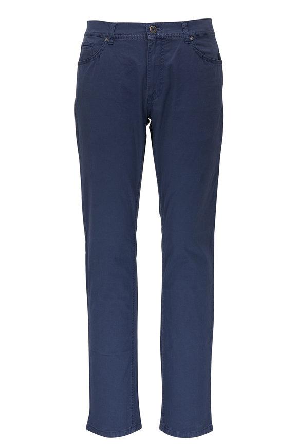Brax Cooper Ocean Blue Stretch Cotton Pant