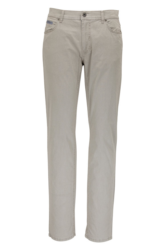 Brax Cooper Taupe Stretch Cotton Five Pocket Pant