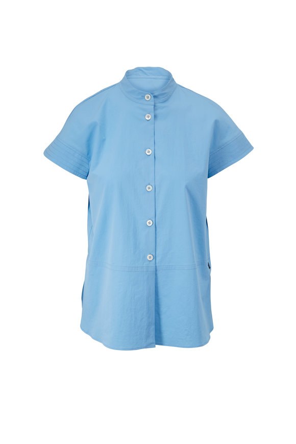 Bogner Elara Sky Blue Short Sleeve Button Down