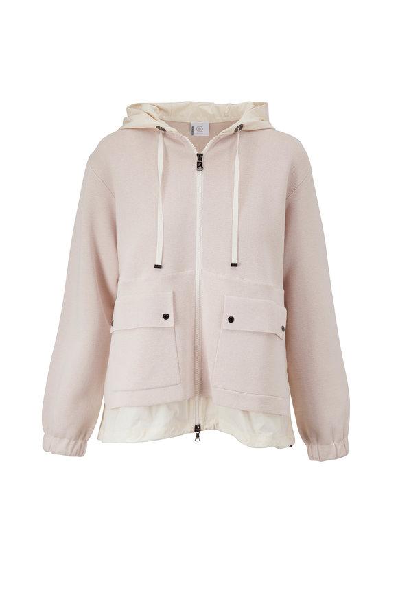 Bogner Adeline Dove Hooded Silk Blend Jacket