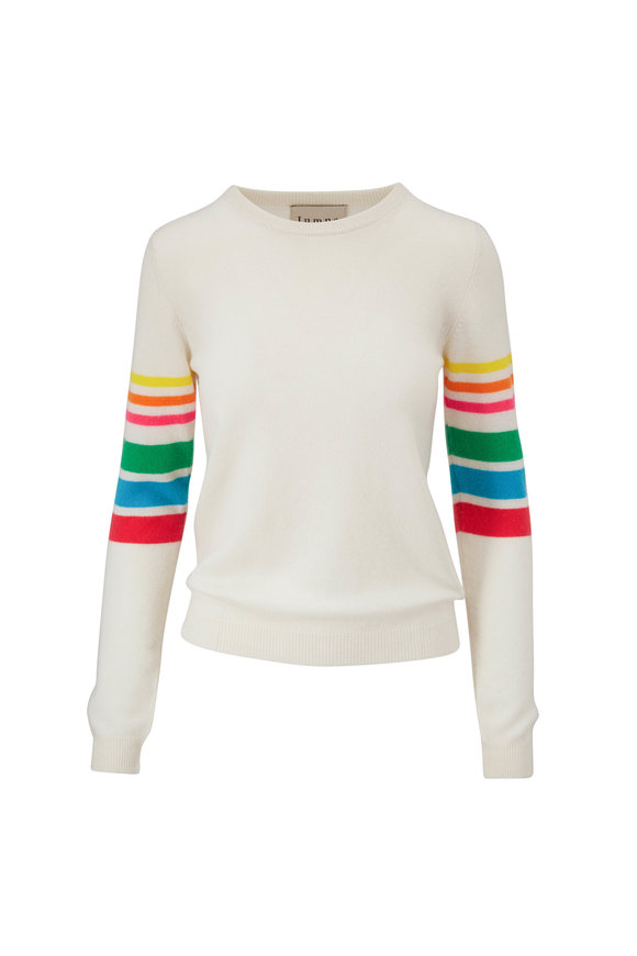 Jumper 1234 Greige Rainbow Arms Cashmere Sweater
