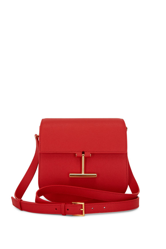 Tom Ford Tara Poppy Leather T Clasp Mini Crossbody