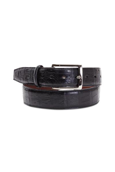 Torino - Black South American Caiman Belt
