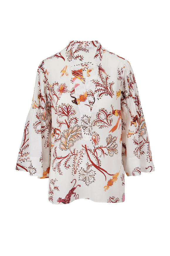 Dorothee Schumacher Cream Tree Of Life Print Blouse