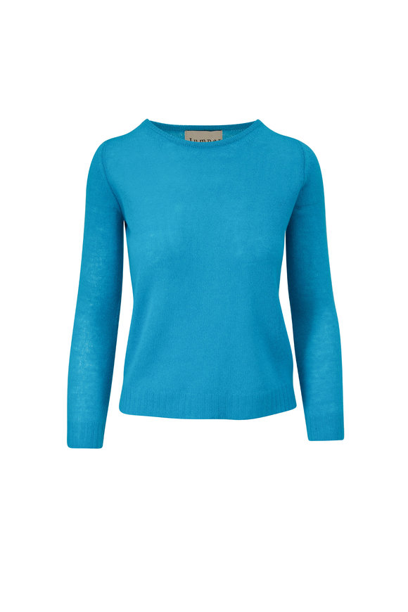 Jumper 1234 Neon Turquoise Cashmere Sweater