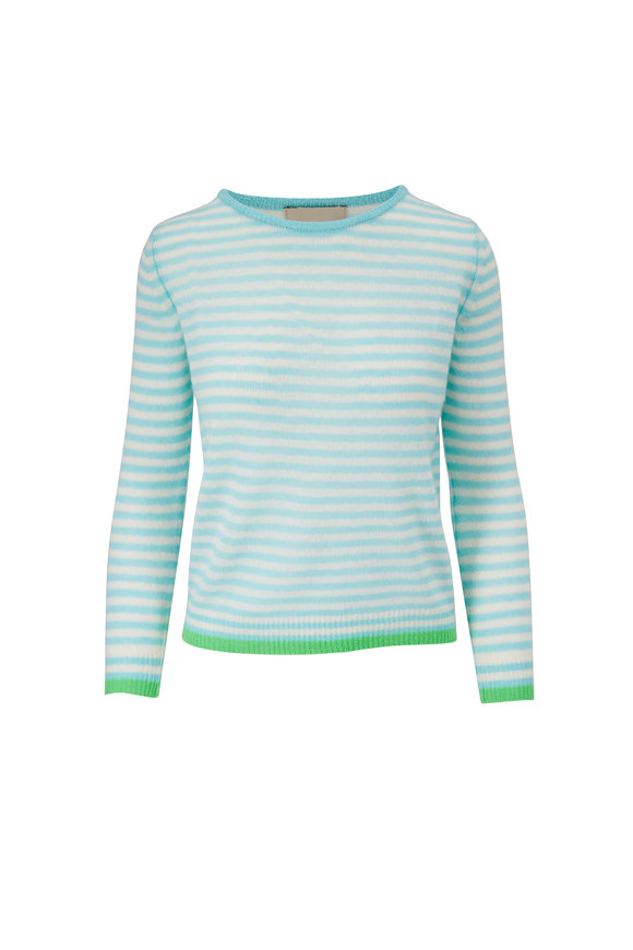 Jumper 1234 Ice & Cream Striped Cashmere Sweater