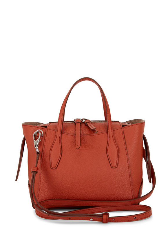 Tod's Orange Leather Micro Shopper