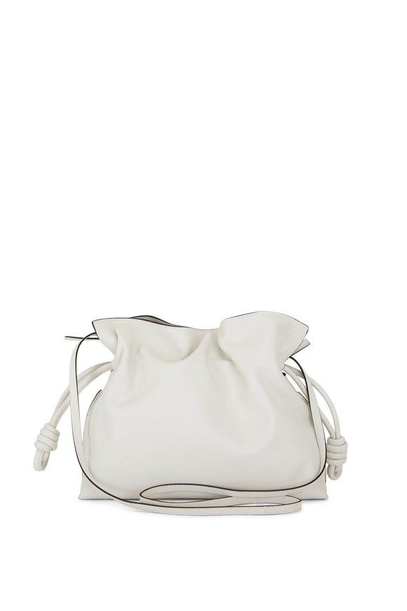Loewe Flamenco Soft White Leather Clutch