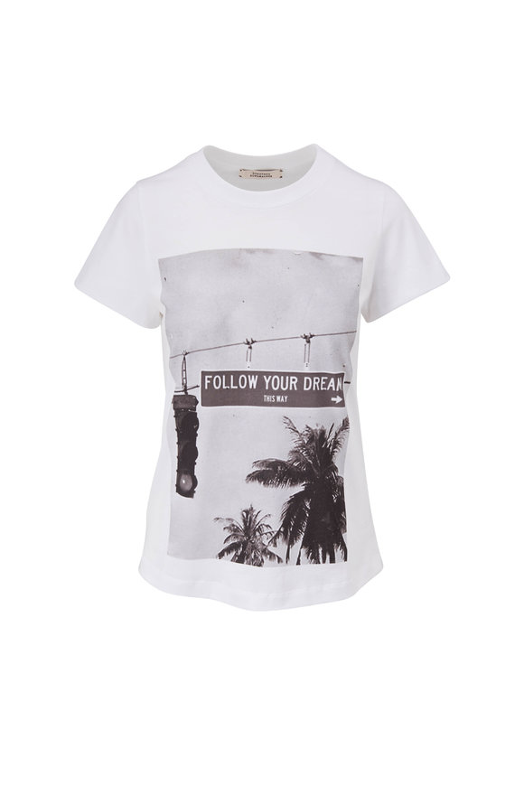 Dorothee Schumacher White Follow Your Dream T-Shirt
