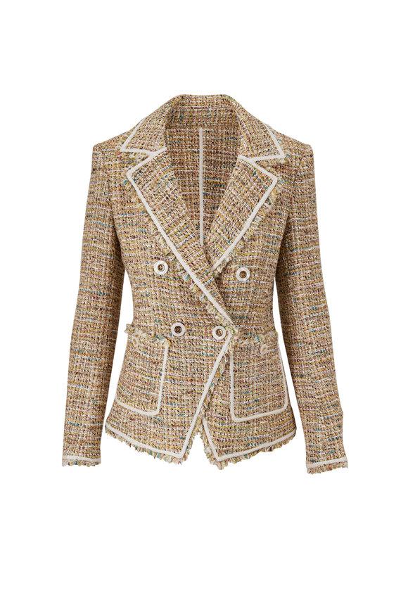 Veronica Beard Theron Multi Tweed Double-Breasted Jacket