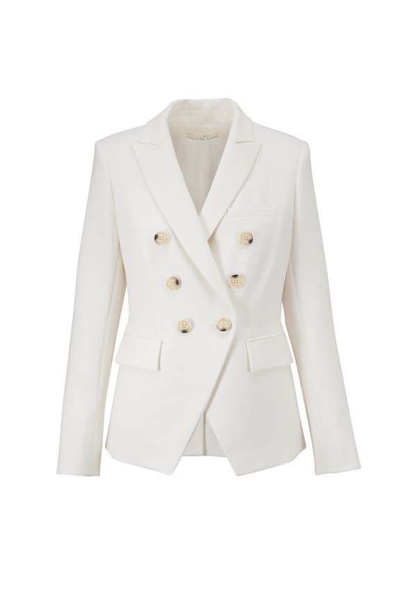 Veronica Beard Miller Porcelain Double-Breasted Dickey Jacket