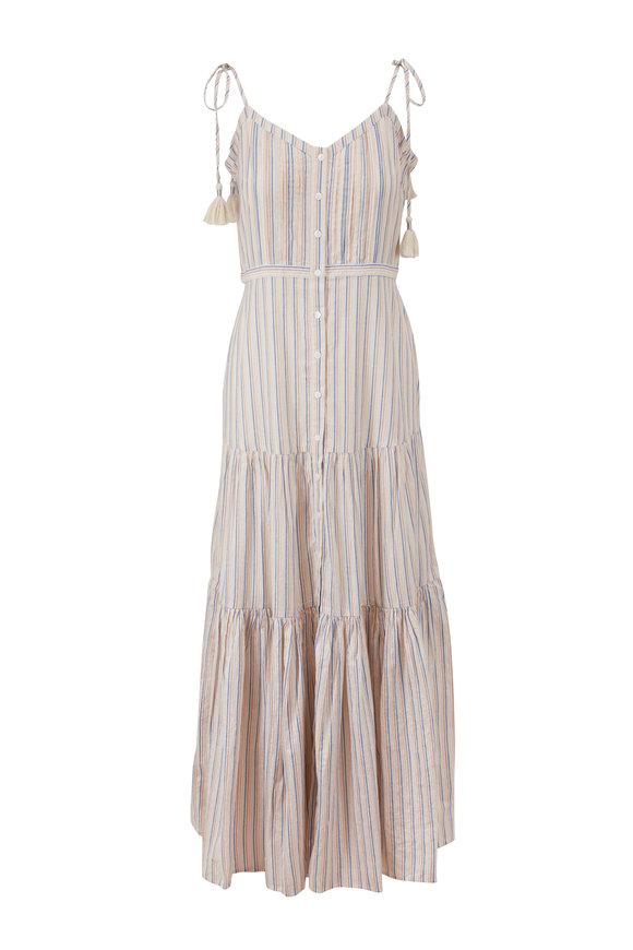 Veronica Beard Windansea Multi Stripe Cover Up Dress