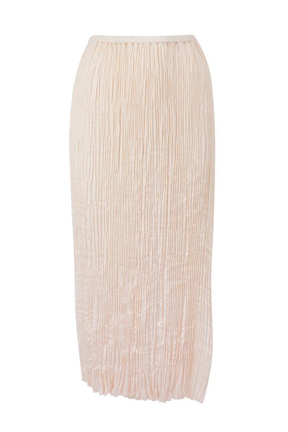 Vince Chiffon Pleated Panel Skirt