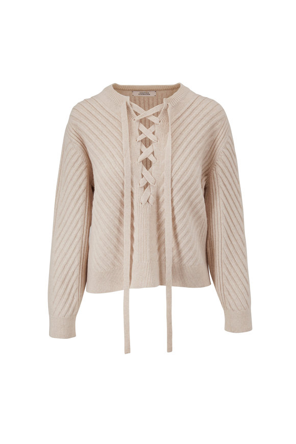 Dorothee Schumacher Urban Breath Wool & Cashmere Lace-Up Sweater