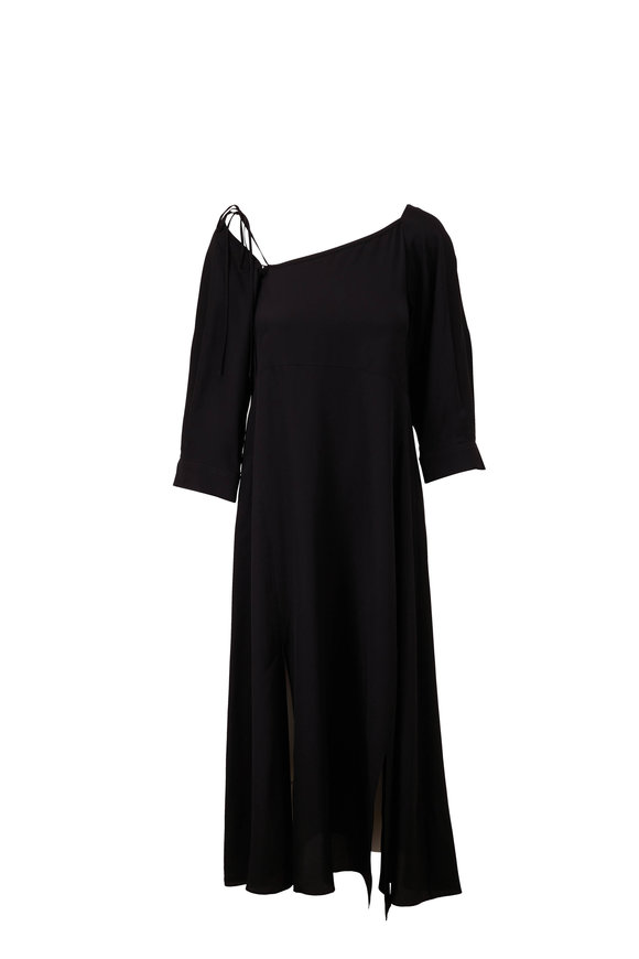 Dorothee Schumacher Fluid Volumes Black Elbow Sleeve Dress