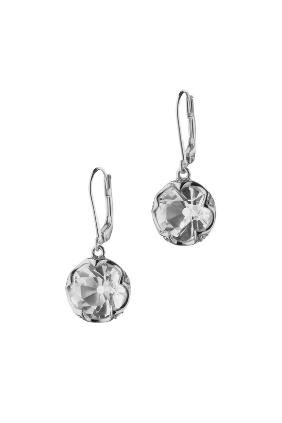 Monica Rich Kosann Sterling Silver Crystal & White Sapphire Earrings