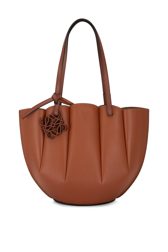 Loewe Shell Tan Leather Small Tote