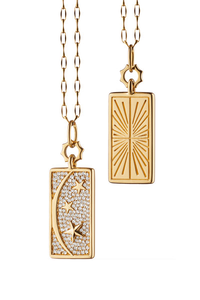 Monica Rich Kosann - 18K Yellow Gold Sun, Moon & Stars Pendant Necklace