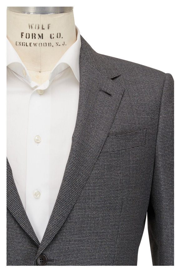 Ermenegildo Zegna Gray Wool Houndstooth Suit