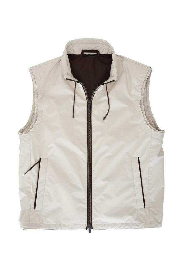 Ermenegildo Zegna Stratos Beige Front Zip Vest
