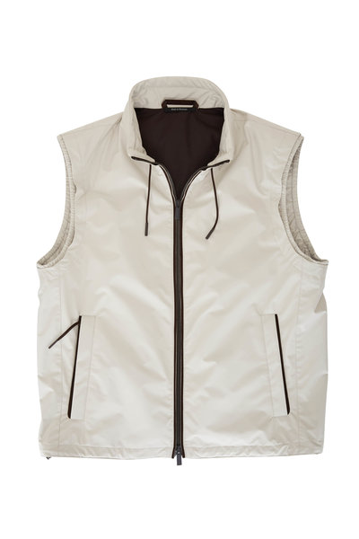 Ermenegildo Zegna - Stratos Beige Front Zip Vest