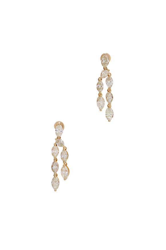 Cairo 18K Yellow Gold Yellow Diamond Earrings