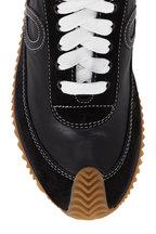 Loewe - Flow Black Leather & Suede Runner