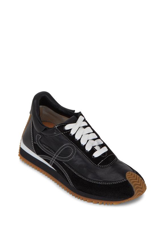 Loewe Flow Black Leather & Suede Runner