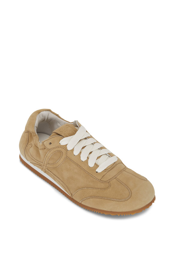 Loewe Ballet Gold Mixed Leather Sneaker